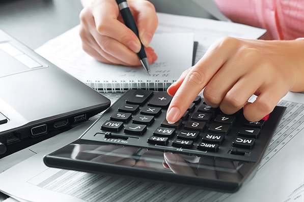 A calculator will come in handy when determining a part-time, irregularly scheduled employee's hours of leave.