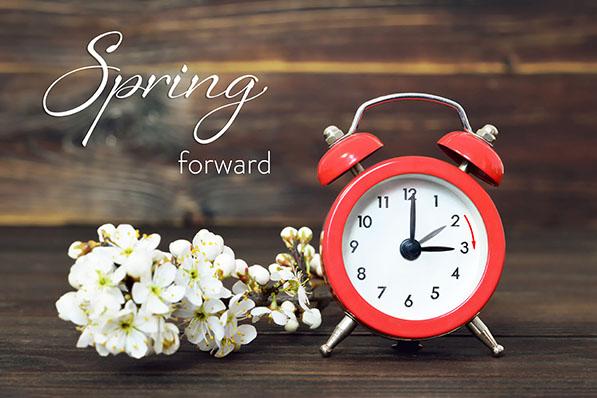 spring forward Sunday march 8
